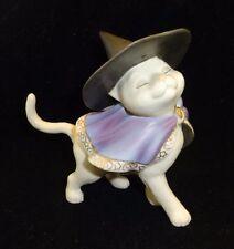 Lenox Moonlight Minx Cat Halloween masquerade Sassy Witch hat and cape VGC