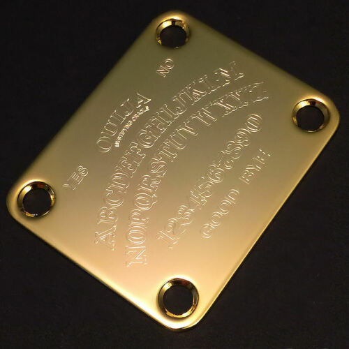 GOLD GUITAR NECK PLATE Custom Engraved Etched OUIJA BOARD
