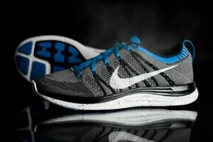 new products 37ec9 16b2e Details about RARE Nike Flyknit Lunar One Men's US Size 10 Blue Black White