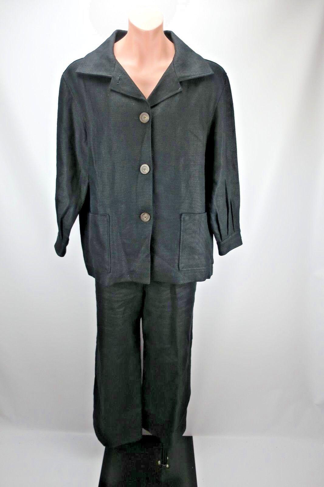 Oscar De La Renta Women's 100% Linen Suit 2pc Bergdorf Goodman Made  Sz 16