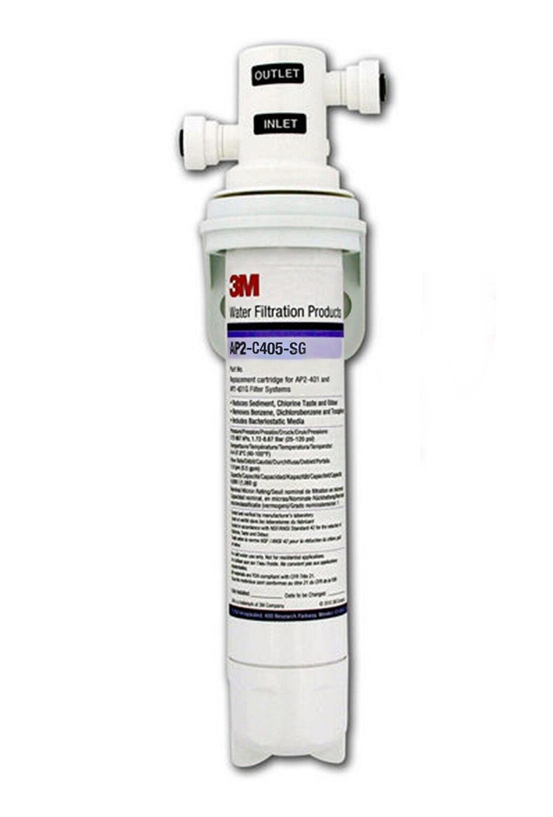 Lincat FC02   AP2-C405-SG Water Filter Cartridge & 1 4  Push Fit AP2 Head by 3M