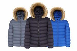 REGNO-Unito-Da-Uomo-Inverno-Caldo-Trench-Giacca-con-cappuccio-in-pelliccia-PARKER-Imbottito-Cappotto