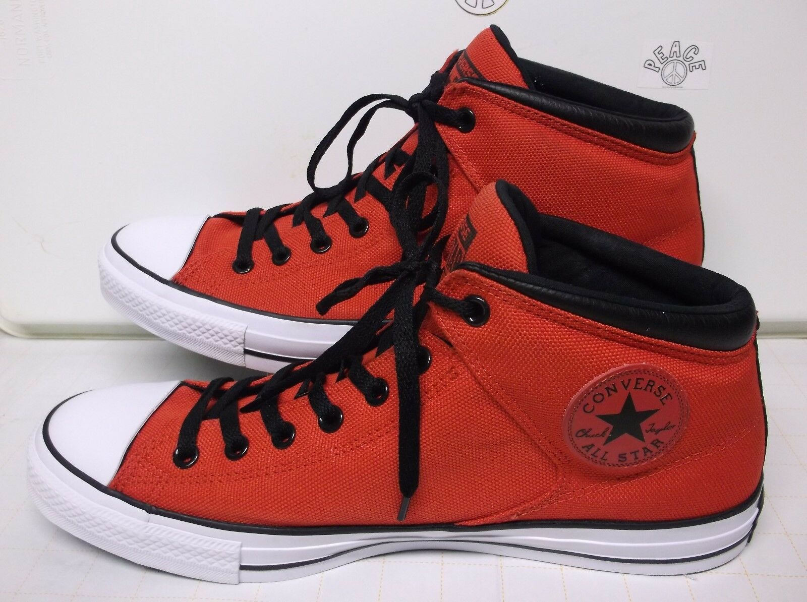 Converse All Stars Stars Stars Basketball shoes..Red,,,Size Mens 13..WO's 15 f43112