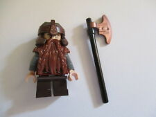 Lego Lord of the Rings 9473 Gimli Minifig w/Weapon The Mines of Moria