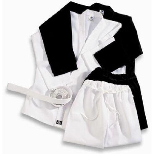 Playwell Karate 16oz Heavyweight Uniform BLACK Adults Students Gi Martial Arts