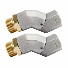 2 Pack 1 Inch Npt Fuel Hose Swivel For Fuel Nozzle Hose 360 Rotating Connector