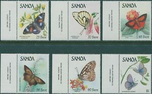 Samoa-1986-SG716-721-Butterflies-set-MNH
