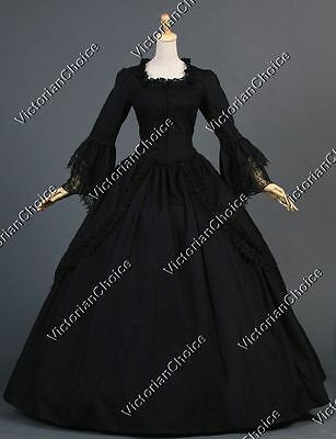Renaissance Gothic Medieval Court Gown Dress Steampunk Theater Clothing N 143