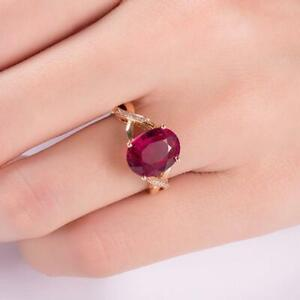 2-50Ct-Oval-Gorgeous-Cut-Red-Ruby-Solitaire-Engagement-Ring-14K-Rose-Gold-Finish