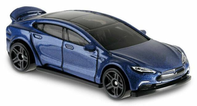 Hot Wheels Green Speed Tesla Model S - Blue 2019  - $4.00