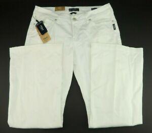 Silver-Jeans-Co-Suki-White-Mid-Rise-Flare-Leg-Stretch-Pants-Women-039-s-Size-18-L34