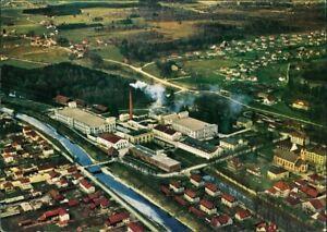Ansichtskarte-Kolbermoor-Luftbild-Fabrikanlage-1961