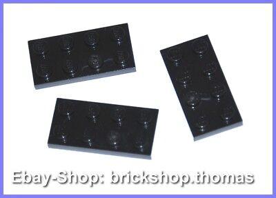 Lego 10x Platte mit 2 Clips 1x2 Schwarz Black Plate with Clips 60470b Neu New