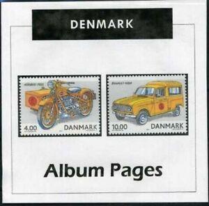 Denmark - CD-Rom Stamp Album 1851-2019 Color Illustrated Album Pages