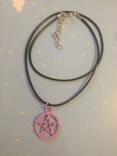 Pastel Purple Pentagram Necklace Goth End Lolita Kawaii Pagan Wiccan Witch NEW