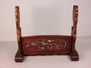 Japanese-Sword-Katana-Stand-Display-Rack-Solid-Wood