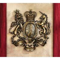 Royal Coat Of Arms Of Britain Plaque Design Toscano Great Britain British Deco on Sale