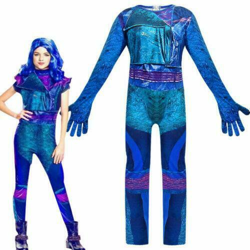 Girl Descendants 3 Audrey Mal Costume Jumpsuit Kid Halloween Cosplay Fancy Dress
