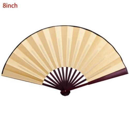 Style Chinese Wedding Decor Hand Held Fan Blank Silk Cloth Folding Fan Party