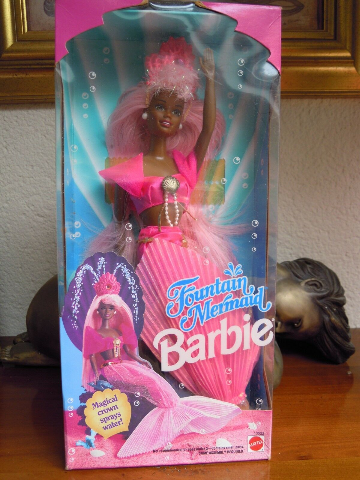 1993 RARE BARBIE FOUNTAIN MERMAID AFRICAN AMERICAN