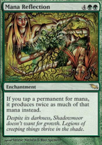 Japanische mana reflexion in der nähe von mint shadowmoor ausländische mtg magie Grün card