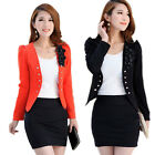 Elegant Women Long Sleeve Casual OL Suit Tops Lady Short Coat Jacket Cozy Blazer