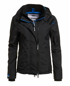 Womens nero Zip Hooded Technical Superdry Pop New windcheater Sd SxdTC6C