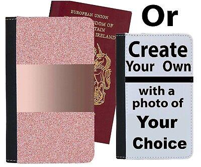 Amichevole Oro Rosa Stampata Glitter Custodia Per Passaporto Lucido Scintillante Luce Rosa Regalo C227-mostra Il Titolo Originale