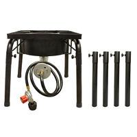 Extended Legs Large Propane Portable Gas Stove Burner Camper Cooker Regulator