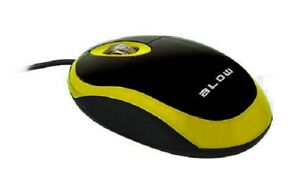 optische-USB-Maus-mit-2-Tasten-Kabelgebunden-gelb-1000-dpi-Mouse
