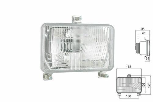 Scheinwerfer Traktorlampe 168x106x95 mm H4 E20 Massey Fergusson mit Glühbirnen