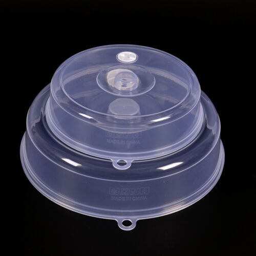 Transparent plaque à micro-ondes couvercle plat nourriture bouche aérée cuisLTA