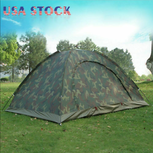 Two Person Waterproof Outdoor Camping 4 Season Folding Tent Camouflage Hiking