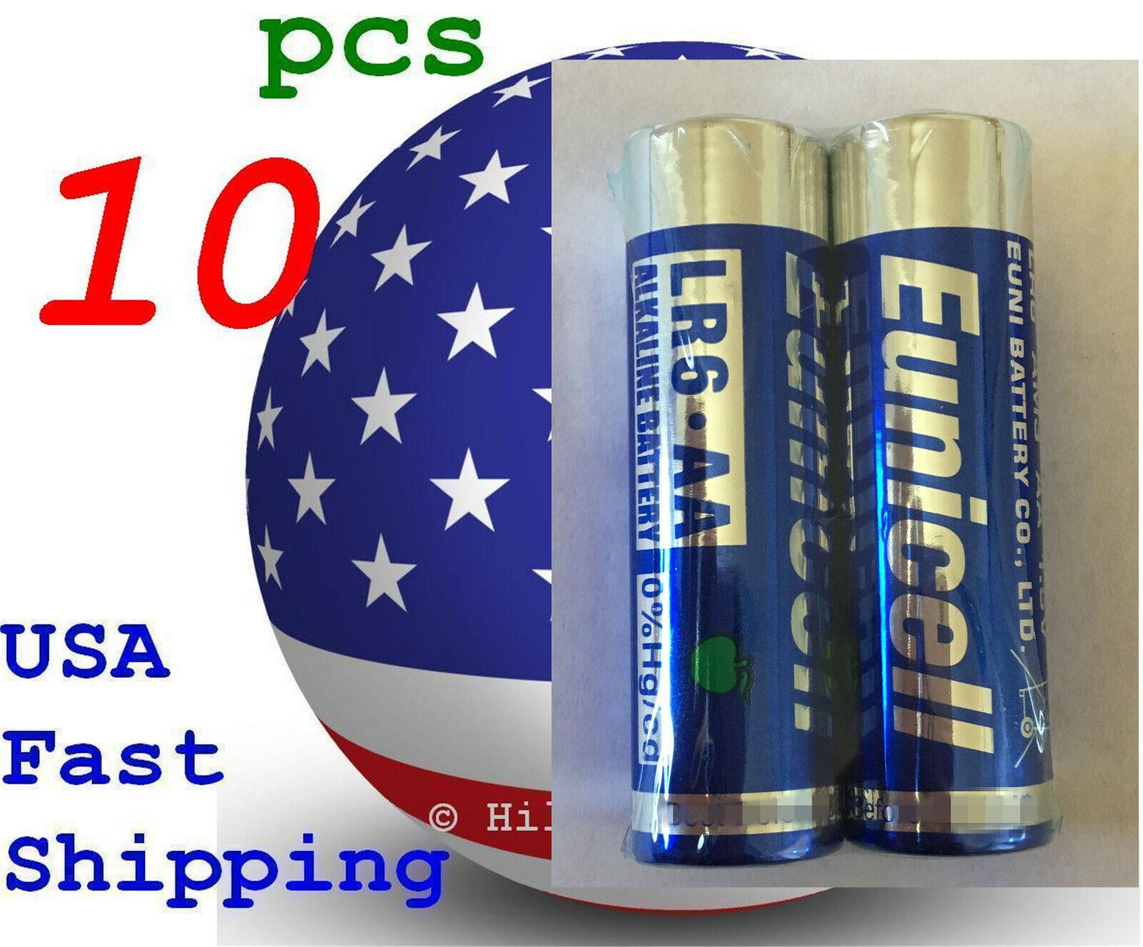 10 pcs Size AA LR6 AM-3 0% Hg Heavy Duty Bulk 1.5V Alkaline Battery