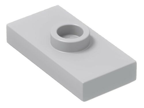 ☀️ LEGO GRAY 100x Plate Modified 1x2 1 Stud w// Groove Bottom Stud Holder Jumper