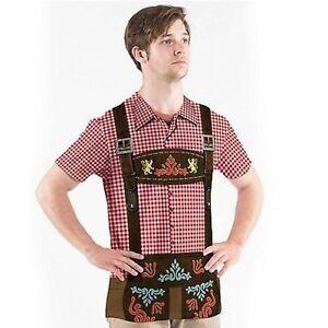faux real mens oktoberfest beer germany lederhosen costume. Black Bedroom Furniture Sets. Home Design Ideas