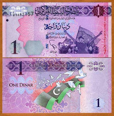 Libya, 1 Dinar, 2013, P-New, UNC