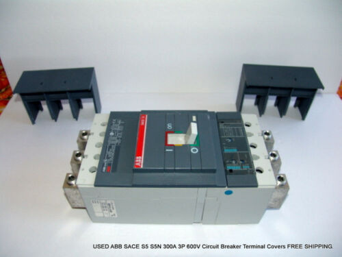 USED ABB SACE S5 S5N 3P 600V Circuit Breaker Terminal Covers FREE SHIPPING