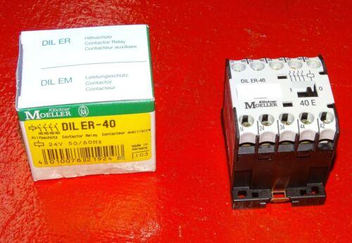 New in box mini contactor Klockner Moeller Relay DILER-40 DIL ER-40 Germany