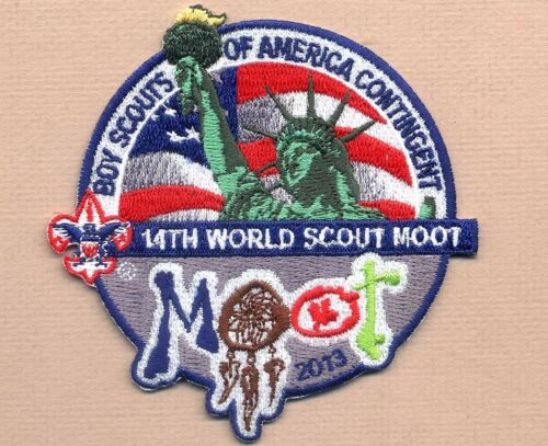 14th World Scout Moot Jamboree USA EMBROIDERED CONTINGENT BADGE Canada 2013