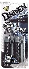 2 Carded x 4 sticks, Driven by Refresh Black Out Vent Stick Car Air Freshener