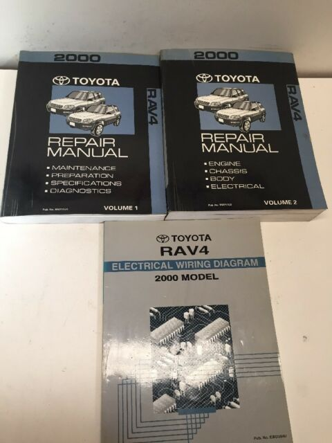 2000 Toyota Rav4 Oem Repair Manuals 1 2  U0026 Electrical