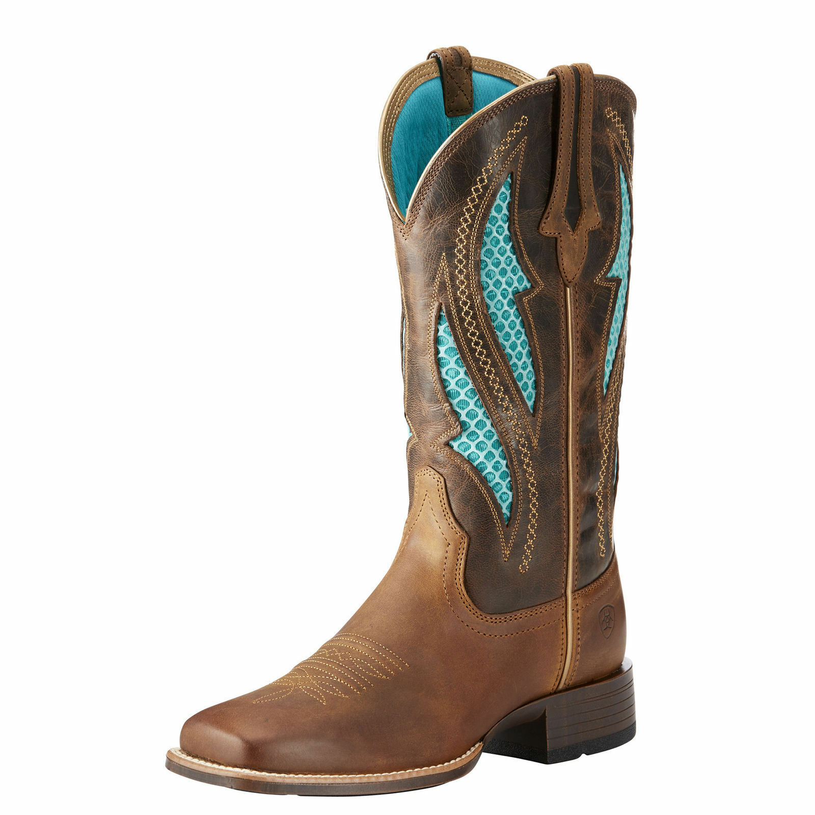 Ariat 10023146 VentTEK Ultra 12  Two Toned Vented Wide Square Toe Cowgirl Boots