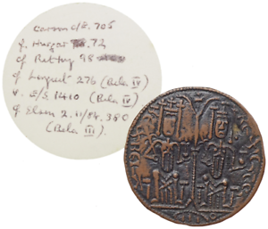 HUNGARY-Bela-III-with-Stephen-1172-1196-E-Denar-Flat
