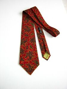 Original Made In Italy Kleidung & Accessoires Herren-accessoires Hell Sinagra Vintage 60-70 Reiner Wolle Pure Paisley