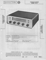 1957 HARMAN KARDON TA-10 RADIO RECEIVER TUBE SERVICE MANUAL PHOTOFACT SCHEMATIC