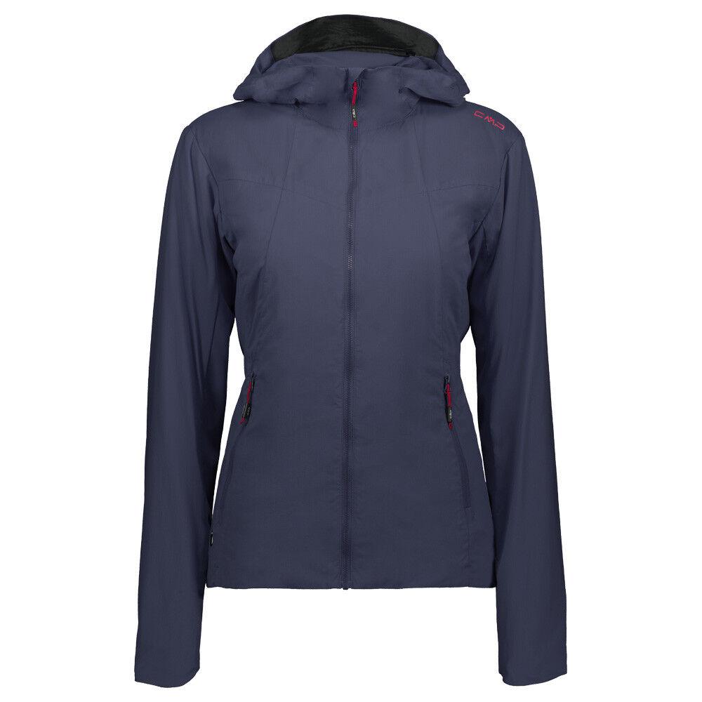 CMP Woman Fix Hood Jacket 38Z5426 Damen Kunstfaserjacke (48 schwarz Blau)