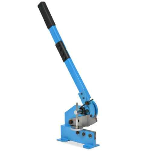 Hand Lever Shear for Cutting Sheet Metals Plates Flat and Round Bars 3 Size Blue
