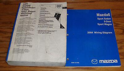 Original 2004 Mazda Mazda6 6 Shop Service Manual + Wiring ...