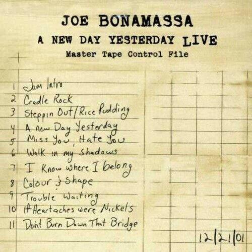 JOE BONAMASSA - NEW DAY YESTERDAY LIVE NEW CD